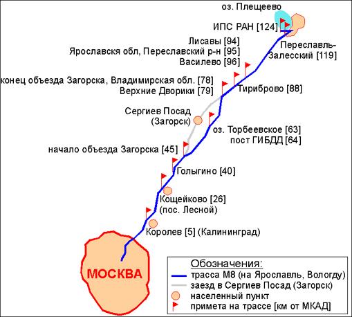 Схема проезда от Москвы.